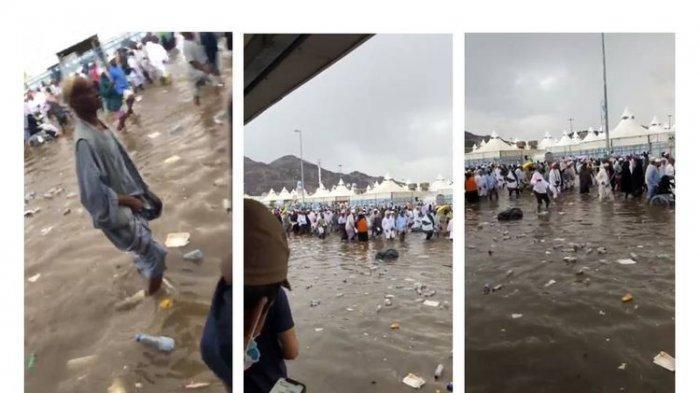 Mina diterjang banjir saat Jamaah Haji Beribadah